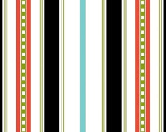 Summertime Stripes in Black by Barbara Jones for Henry Glass - 1 Yard