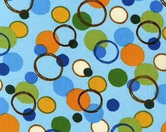 Animal Party Too Circles in Earth by Amy Schimler for Robert Kaufman - 1 Yard