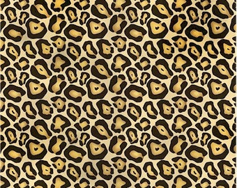 Fashionista Leopard Skin in Gold by Spectrix - 1 Yard