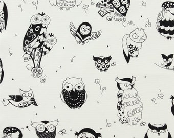 It's a Hoot in Black Home Decor Fabric by Alexander Henry -  1 Yard