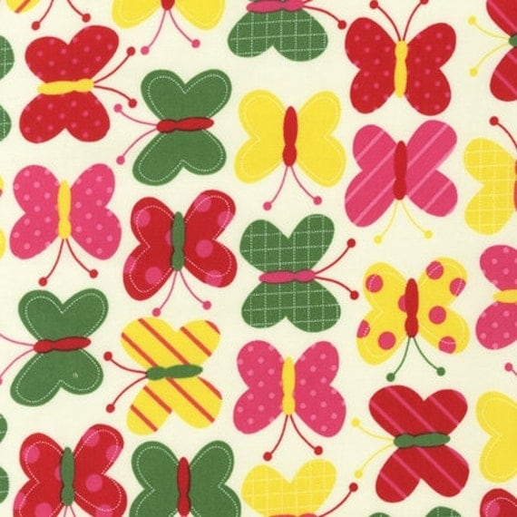 Urban Zoologie Butterflies in Bright - 3 Yards reserved for jzrbabs