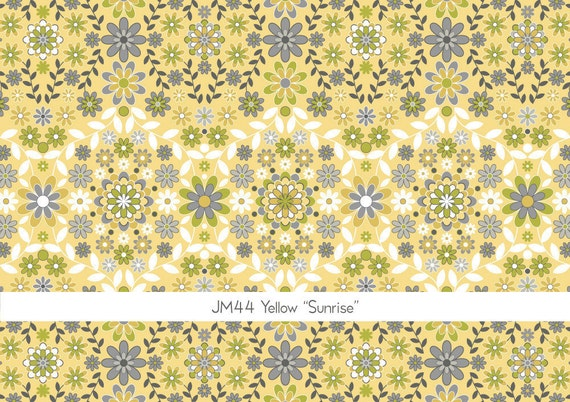 End of the Bolt - Silent Cinema Sunrise in Yellow by Jenean Morrison for Free Spirit - 1 Yard 34 Inches