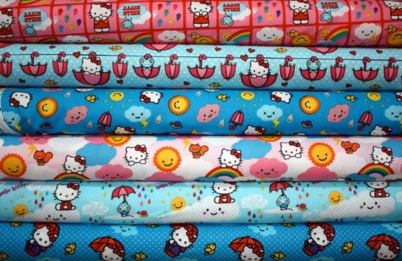 Hello Kitty Rain or Shine By David Textiles - 6 Yard Bundle - Last Set