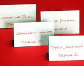 Table Placecards/Hand Lettered Proof/Sample