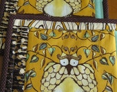 Quilted Owl Pot-holders - set of two