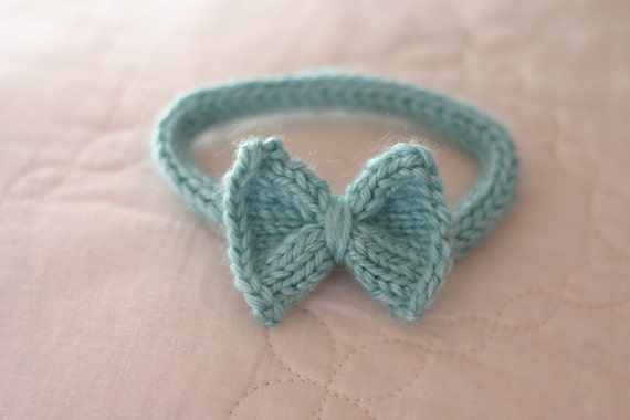 Aqua Blue/Green Bow Tie Cat Collar