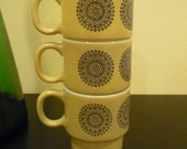 Set of 3 Medallion Stacking Cups