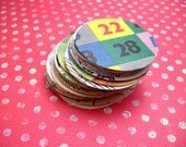 25 Ephemera Rounds / large circle punchies from many paper sources
