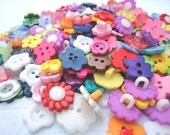 Flower Garden buttons - mixed pack of 25