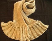 PDF Knitting Pattern-Ribbed Ruffle Scarf