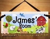 Farm Animal Childrens Bedroom Nursery DOOR SIGN Wall Art Plaque DS0031