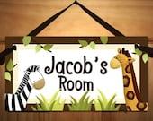 In the Jungle Baby Nursery Kids Bedroom DOOR SIGN Wall Art DS0326