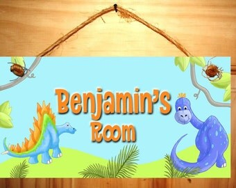 A Dinotastic Dinosaur DOOR SIGN Boys Bedroom Nursery Wall Art Decor Ds0009