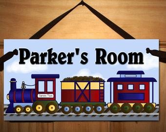 All Aboard the Express Train Boys Transportation Bedroom DOOR SIGN Wall Art DS0010