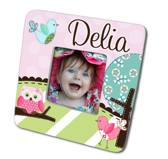 Sweet Little Owl Girls Photo PICTURE FRAME for Kids Bedroom Baby Nursery PF0023