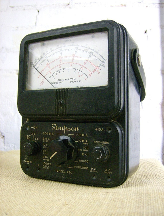 Simpson Analog Meter : Reserved original s simpson analog multimeter by