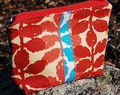 SALE - Duet - Large Gusseted Zipper Pouch