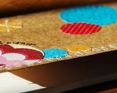Small HummingWord - embellished Moleskine journal, unlined