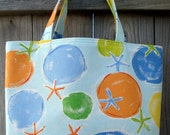 Childrens Beach Bag -  Small Beach Tote - Small Project Tote - Childrens Tote - Childrens Book Bag - Kids Beach Bag