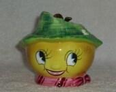 Vintage PY Anthropomorphic LEMON Sugar Jam Jar MIYAO Japan Holt Howard Mid Century