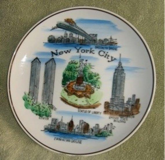 Vintage New York City NYC Decorative Plate Scenic Souvenir