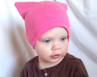 SALE - the cutest little hat - hot pink (bamboo organic cotton)
