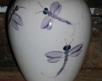 Lavender Dragonfly Vase