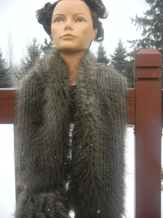 Raccoon Faux Fur Scarf