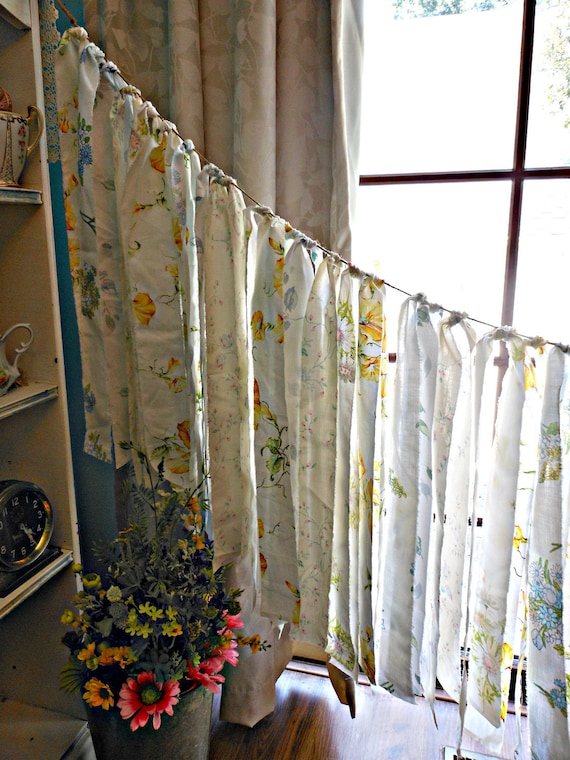 Emma's Vintage Flower Garden Anthropologie Inspired Fabric Garland Banner Wedding Shabby Chic Wall Hanging