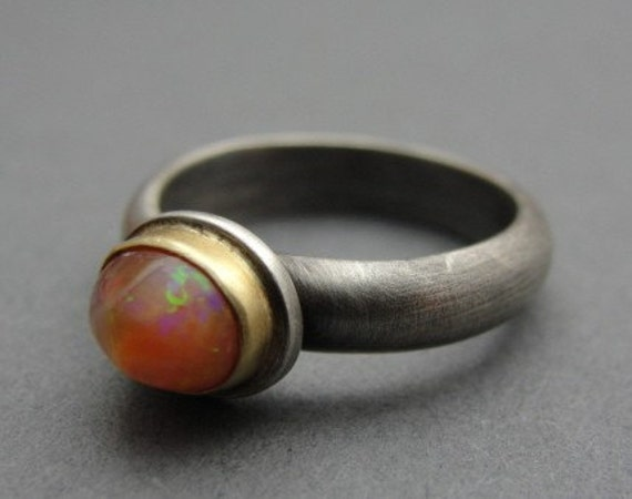 Sunset Opal Ring