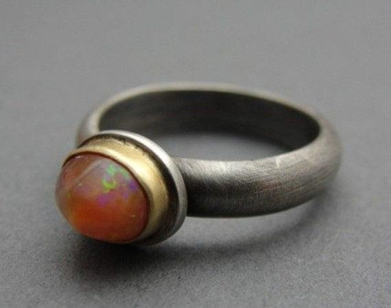 Sunset Opal Ring