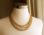 gold vintage in chains - a necklace of recycled and vintage jewelry