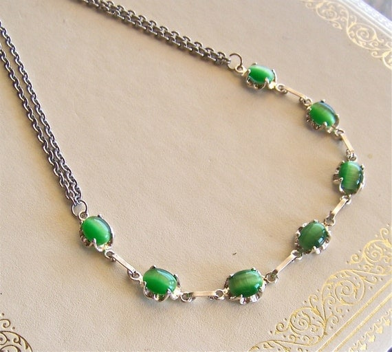 green with envy necklace - recycled jewelry