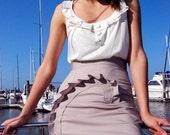 ANY COLOR Seashell Pencil Skirt