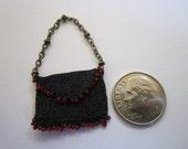 Original Design Miniature Purse Victorian Era Dollhouse Accessory Unique Mini