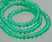 AAA Emerald Green Onyx Smooth Polished Rondelles 4mm - 5.5mm