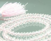 1/2 Strand AAA Rose Quartz Micro-Faceted Rondelles 3.5mm - 5mm