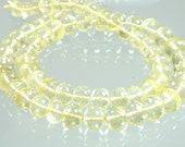 1/2 Strand AAA Lemon Quartz Micro-Faceted Rondelles 6-8mm
