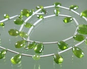 1/2 Strand Gorgeous A-AA Vesuvianite Faceted Pear Briolettes