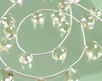 1/2 Strand AAA Scapolite Micro-Faceted Square Diamonds
