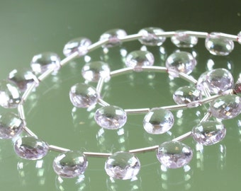AAA Faceted Pink Amethyst Heart Briolettes
