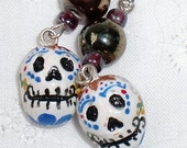 Calavera Drop Earrings - Design B