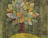 One tree Original collage