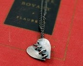 Made To Order - Baby Franken Heart Sterling Silver Necklace by Markhed