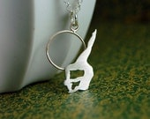 Made To Order - Sterling Silver Hoop Trapeze Artist Necklace by Markhed