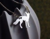 Red Fox Love Necklace - Sterling Silver -  4% of the Profits go Towards Helping Animals