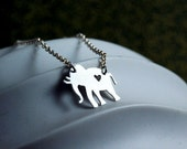 Elephant Love Necklace - Sterling Silver