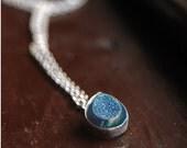 Tear Drop Drusy Sterling Silver Necklace