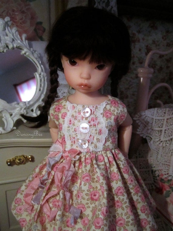 Iplehouse Baby BID Summer Flowers Bubble Dress bjd abjd