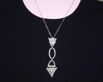 Vintage Necklace, Vintage Pieces From Broken Jewelry, Sparkle Plenty OOAK